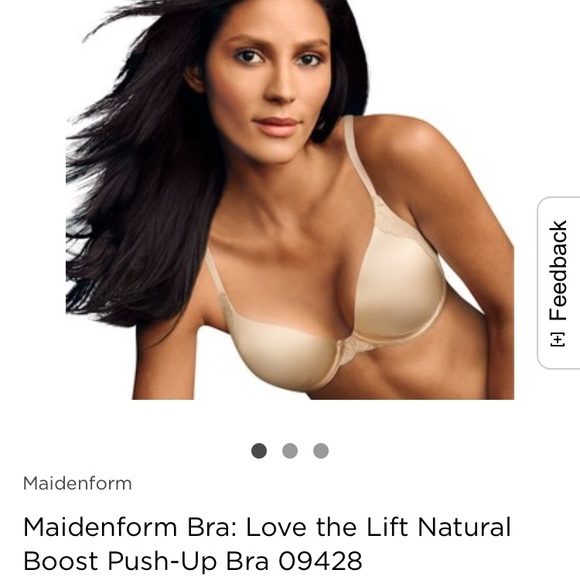 e4cd3c9e98 Maidenform Love the Lift Push-up Bra Nude NEW